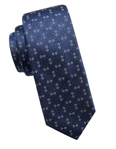 Vince Camuto Neat Silk Tie-NAVY-One Size