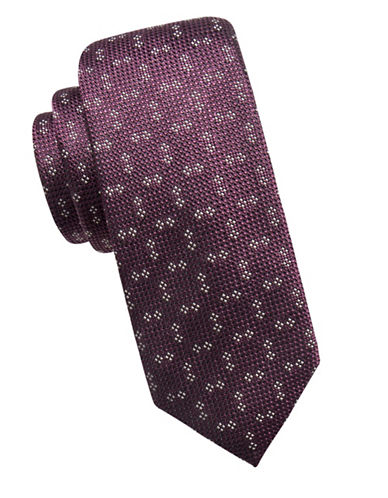 Vince Camuto Neat Silk Tie-WINE-One Size