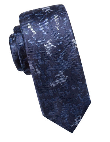 Vince Camuto Camouflage Silk Tie-NAVY-One Size
