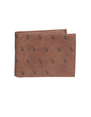 Dockers Anchor-Print Passcase Wallet-BROWN-One Size