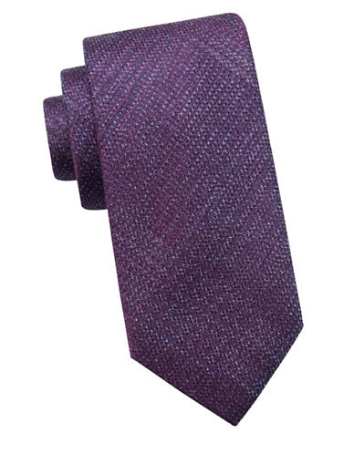 Black Brown 1826 Embroidered Silk Tie-BERRY-One Size