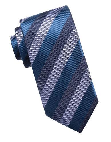 Black Brown 1826 Three-Tone Silk Tie-BLUE-One Size
