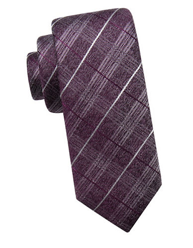 Black Brown 1826 Paisley Silk Tie-BERRY-One Size