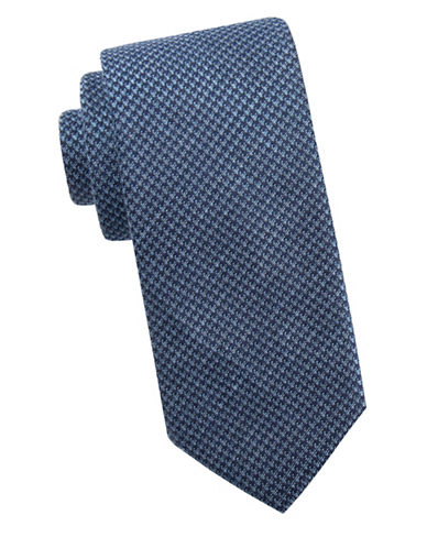 Ben Sherman Patterened Silk Tie-BLUE-One Size