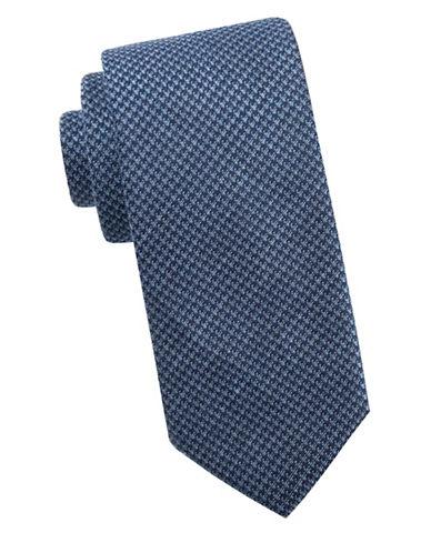 Ben Sherman Patterened Silk Tie-BLUE-One Size
