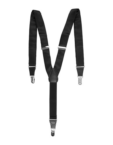 Black Brown 1826 Tubular Suspenders-BLACK-One Size