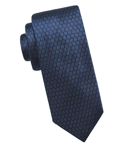 Ben Sherman Honeycomb Silk Tie-BLUE-One Size
