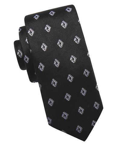 Ben Sherman Diamond Silk Tie-BLACK-One Size
