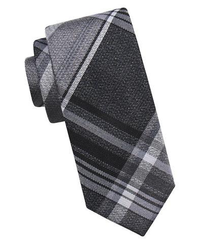 Ben Sherman Tartan Silk Tie-BLACK-One Size