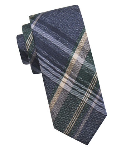 Ben Sherman Tartan Silk Tie-NAVY-One Size