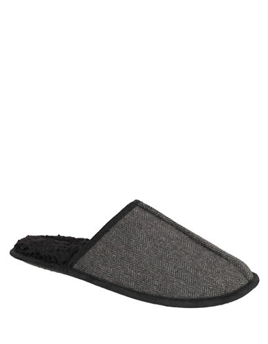 Kenneth Cole New York Round Toe Slippers-BLACK-X-Large