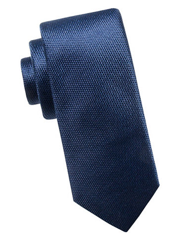 Black Brown 1826 Slim Silk Tie-NAVY-One Size