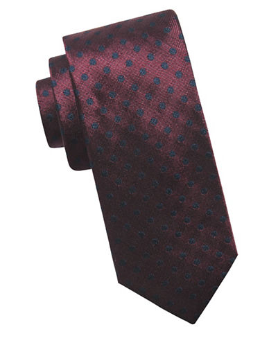 Ben Sherman Printed Silk Tie-WINE-One Size