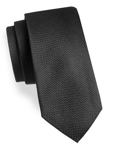 Black Brown 1826 Floral Silk Tie-BLACK-One Size