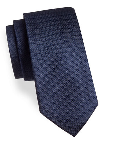 Black Brown 1826 Floral Silk Tie-LIGHT NAVY-One Size