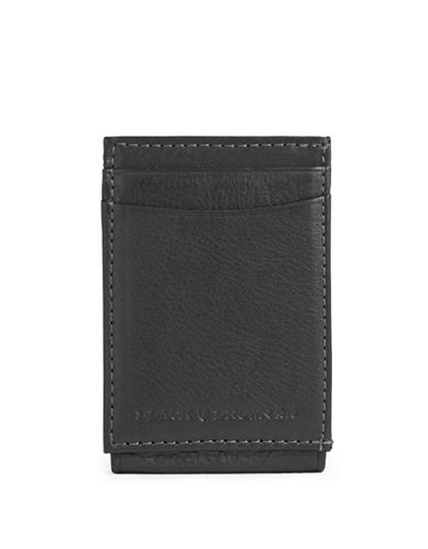 Black Brown 1826 Magnetic Leather Bi-Fold Wallet-BLACK-One Size