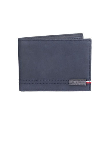 Tommy Hilfiger Tonal-Stitch Bifold Wallet-NAVY-One Size