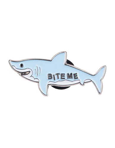 Pins Bite Me Pin-LIGHT BLUE-One Size