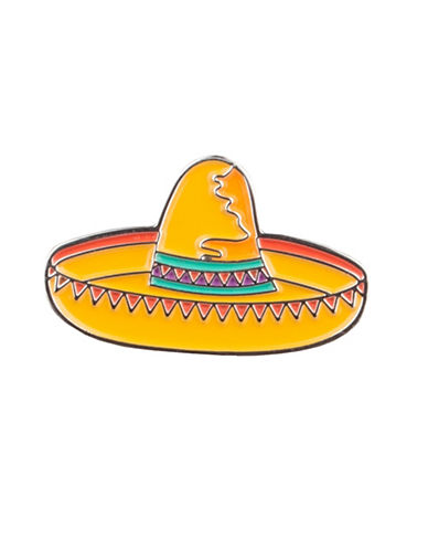 Pins Sombrero Pin-YELLOW-One Size