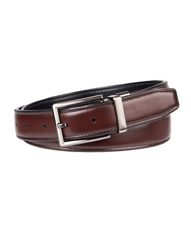 Dockers Reversible Stretch Belt-BLACK-X-Large