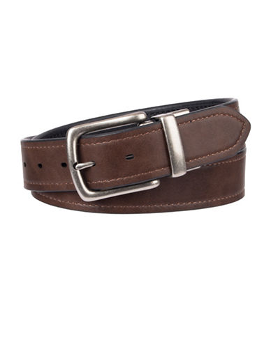 LeviS Logo Reversible Belt-BROWN-40