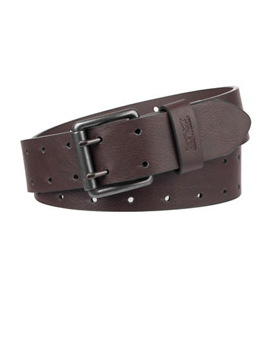 LeviS Perforated Belt-BROWN-34