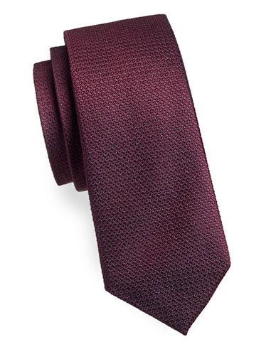 Black Brown 1826 Textured Silk Tie-RED-One Size