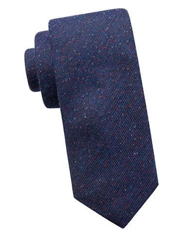 Ben Sherman Slim Silk-Blend Casual Dot Tie-NAVY-One Size
