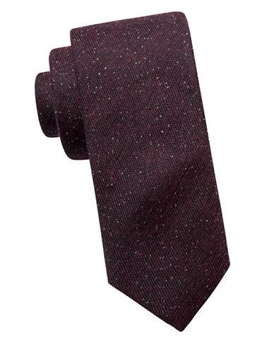 Ben Sherman Slim Silk-Blend Casual Dot Tie-RED-One Size