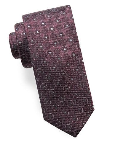 Ben Sherman Slim Silk-Blend Medallion Tie-RED-One Size