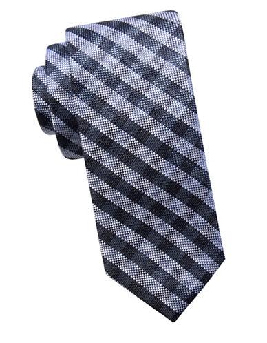 Ben Sherman Slim Silk Stripe Tie-NAVY-One Size