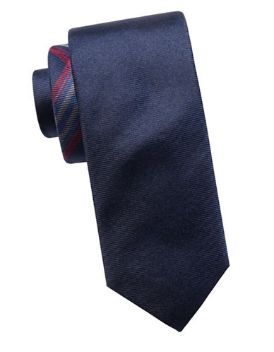Ben Sherman Slim Silk Textured Tie-NAVY-One Size
