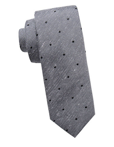 Vince Camuto Dotted Silk Tie-GREY-One Size
