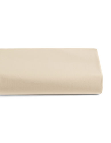 Highland Feather 220 Thread-Count Organic Cotton Fitted Sheet-BEIGE-Queen