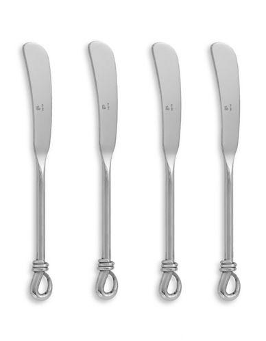 Gourmet Settings Four-Piece Mini Twist Spreaders-SILVER-One Size