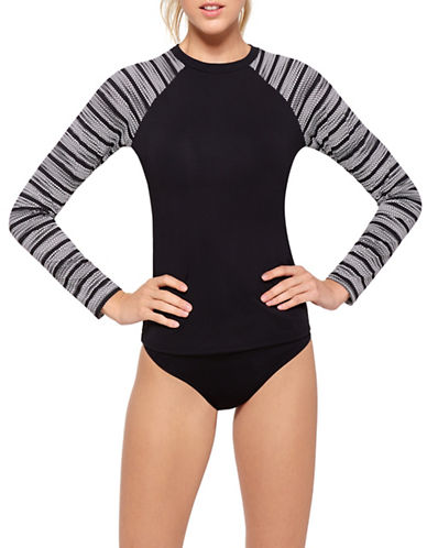 Liv Striped Rashguard-BLACK MULTI-Medium
