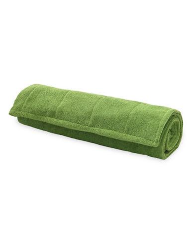Gaiam Grippy Yoga Mat Towel-GREEN-One Size