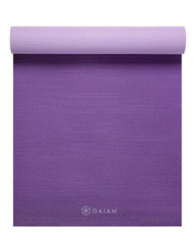 Gaiam Reversible Yoga Mat - 3mm-PURPLE-One Size