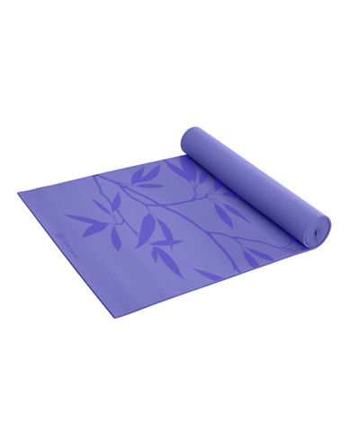 Gaiam Printed Yoga Mat - 3mm-PURPLE-One Size