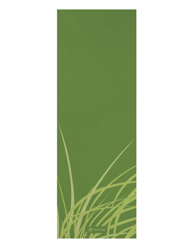 Gaiam Printed Yoga Mat - 5mm-GREEN-One Size