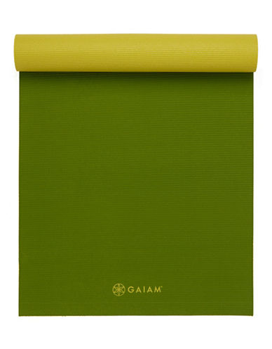 Gaiam Reversible Yoga Mat - 5mm-GREEN-One Size