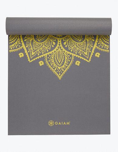 Gaiam Printed Yoga Mat - 5mm-GREY-One Size