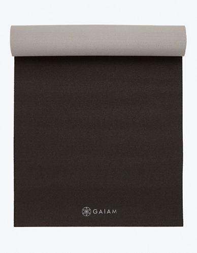 Gaiam Reversible Yoga Mat - 5mm-BLACK-One Size