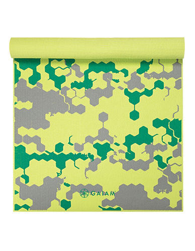Gaiam Kids Yoga Mat - 3mm-GREEN MULTI-One Size
