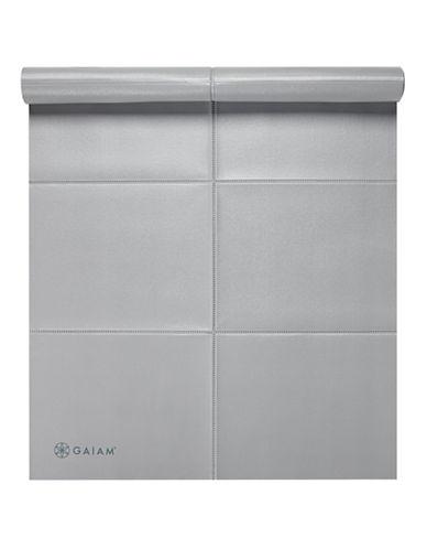 Gaiam Foldable Yoga Mat - 2mm-GREY-One Size