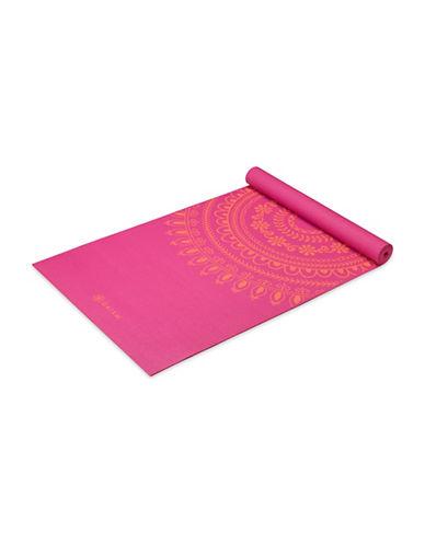 Gaiam Bright Marrakesh Printed Yoga Mat-PINK-One Size