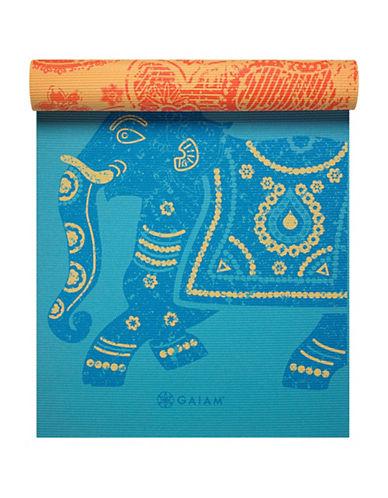 Gaiam Elephant Premium Printed Reversible Yoga Mat-LIGHT BLUE-One Size