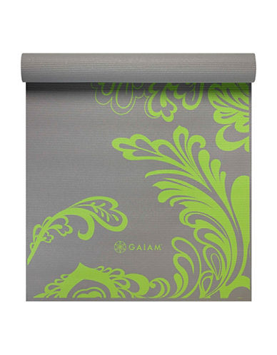 Gaiam Citron Wave Printed Yoga Mat-GREY-One Size