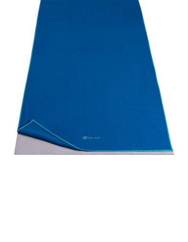 Gaiam Thirsty Microfiber Yoga Mat Towel-BLUE-One Size