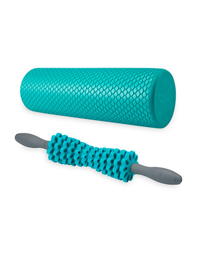 Gaiam Total Body Massage Kit-BLUE-One Size
